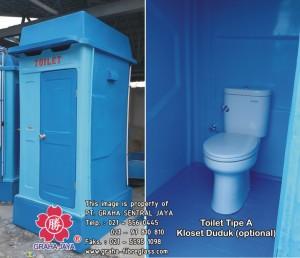 Toilet Fiber Tipe A - Duduk